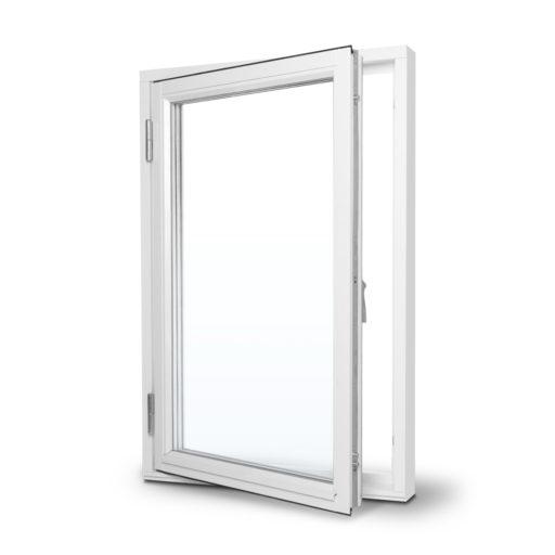 Prima sidohängt fönster öppen