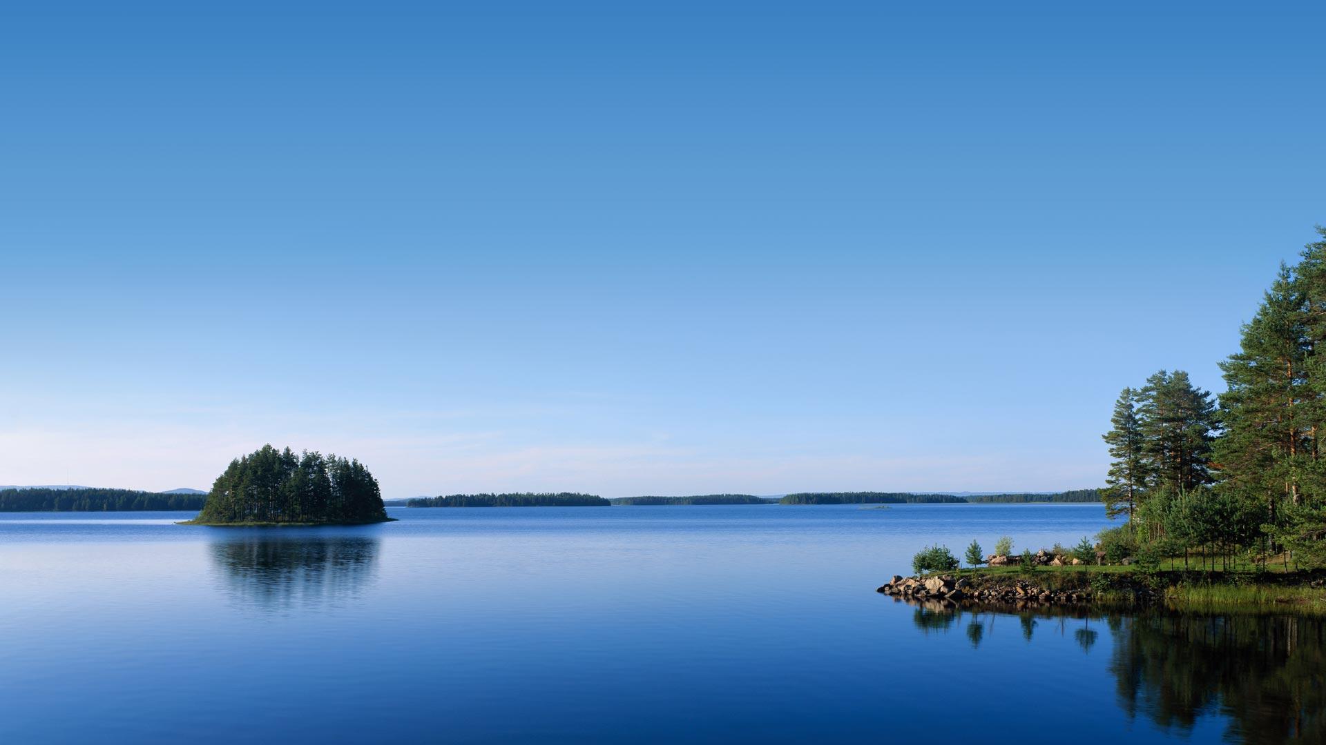 Vacker naturbild över SIljan i Dalarna