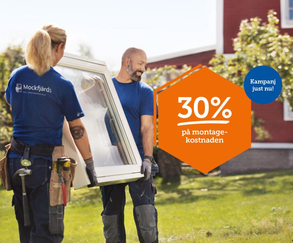 Rabatt motsvarande 30% av din montagekostnad!