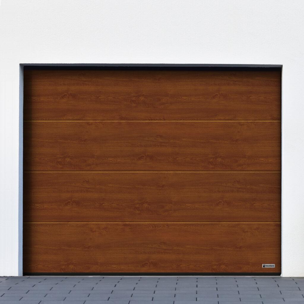 Garageport_Mockfjärds_L-profil_Decocolor_DarkOak
