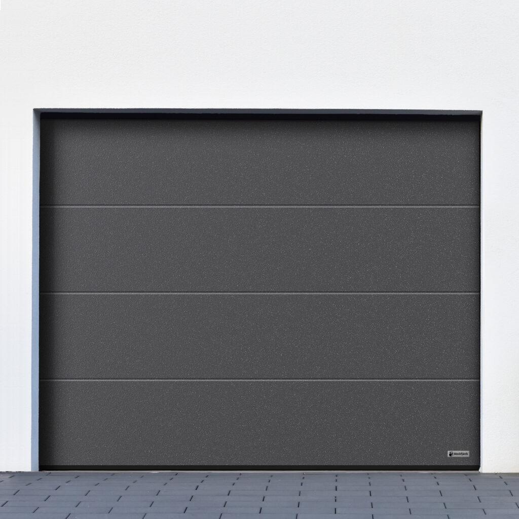 Garageport_Mockfjärds_L-profil_Planar_CH703_TitanMetallic